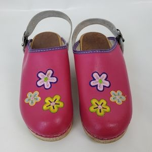 Hanna Andersson Swedish Embroidered Wood Clogs